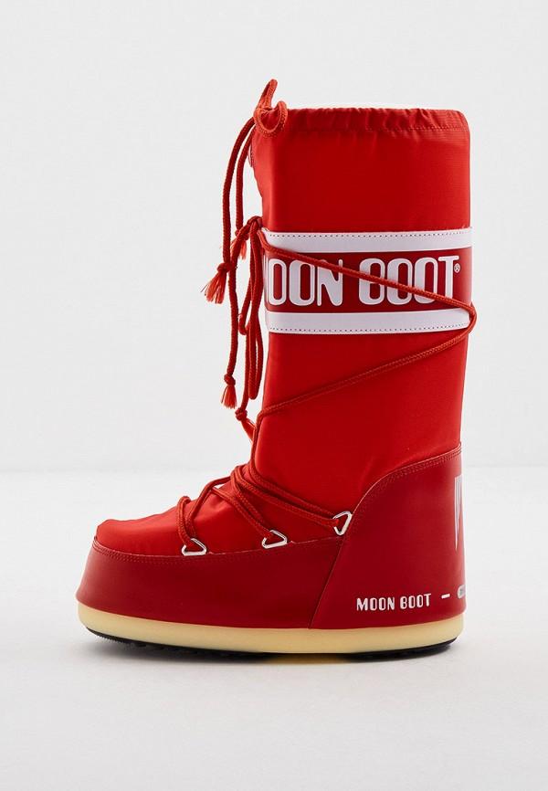 женские луноходы moon boot, красные