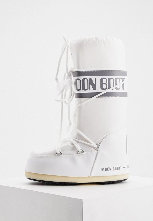 женские луноходы moon boot, белые