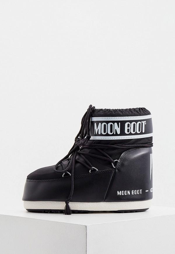 женские луноходы moon boot, черные