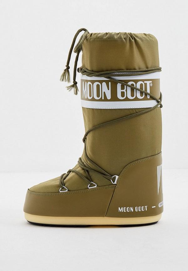 женские луноходы moon boot, хаки