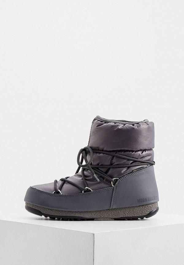женские дутики moon boot, серые