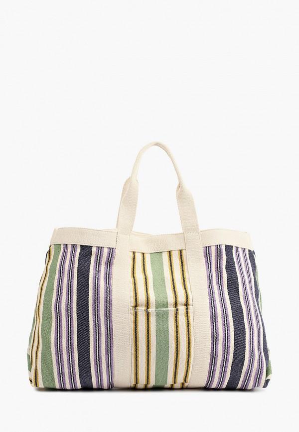 женская пляжные сумка mango, разноцветная
