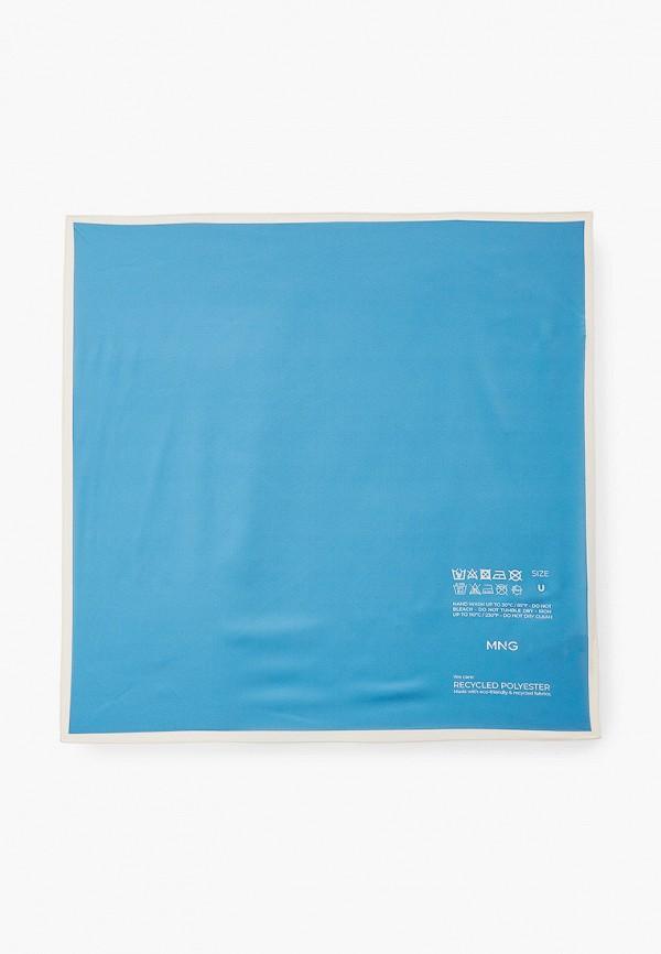 женский платок mango, голубой