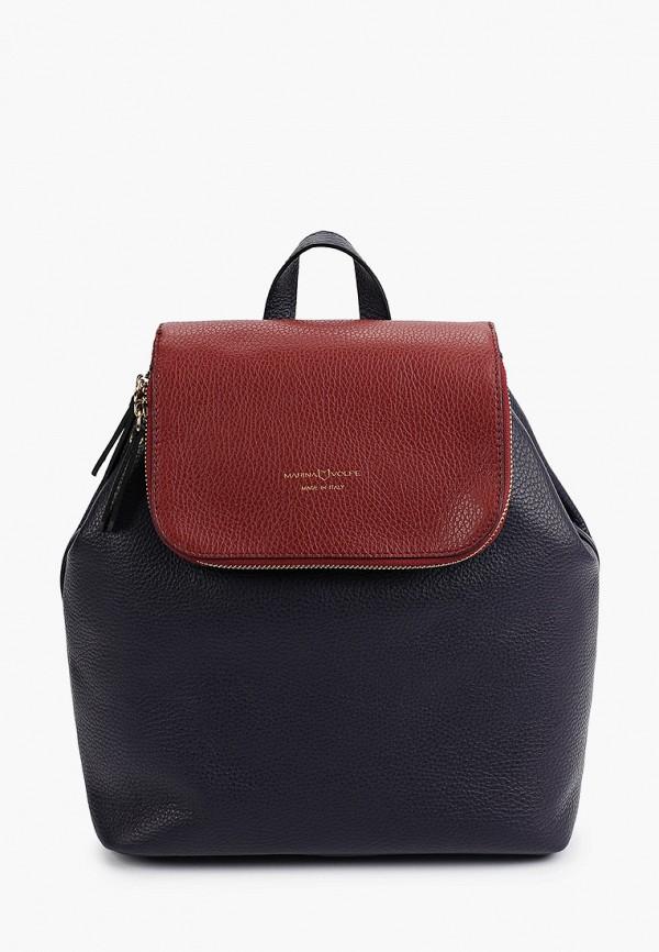 женский рюкзак marina volpe, синий