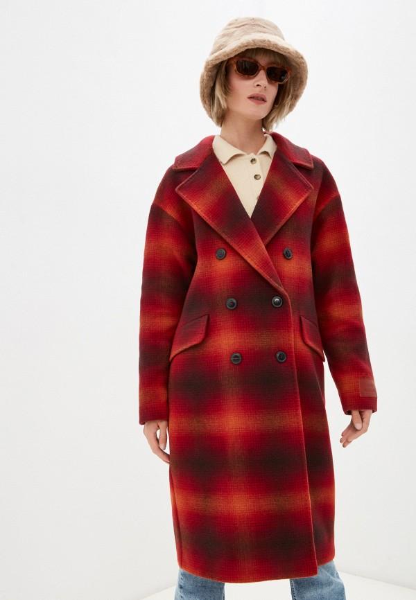 Пальто Tommy Hilfiger красного цвета