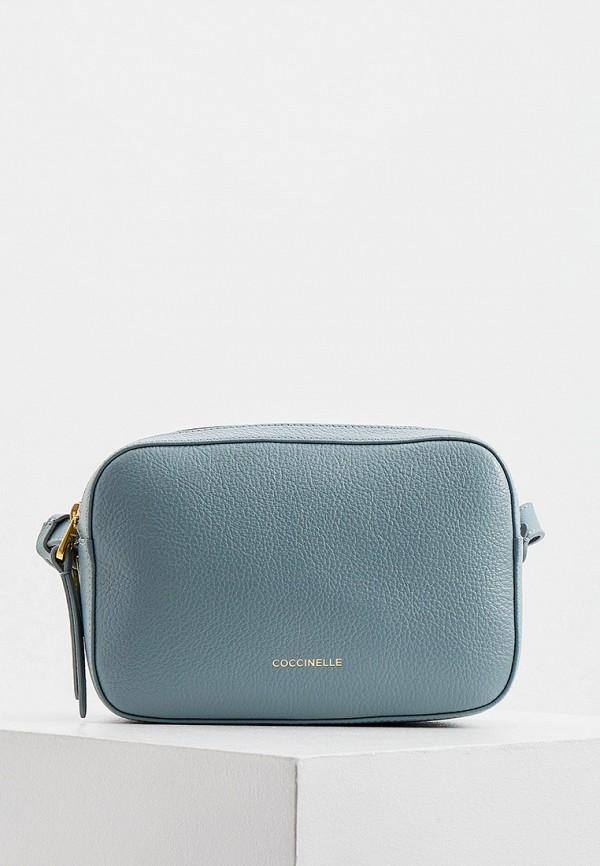 женская сумка coccinelle, голубая