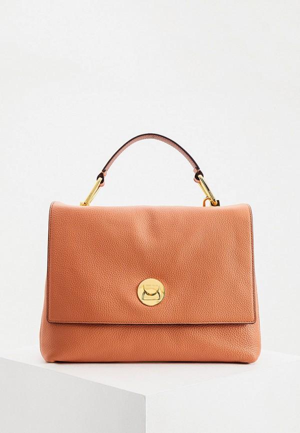 женская сумка с ручками coccinelle