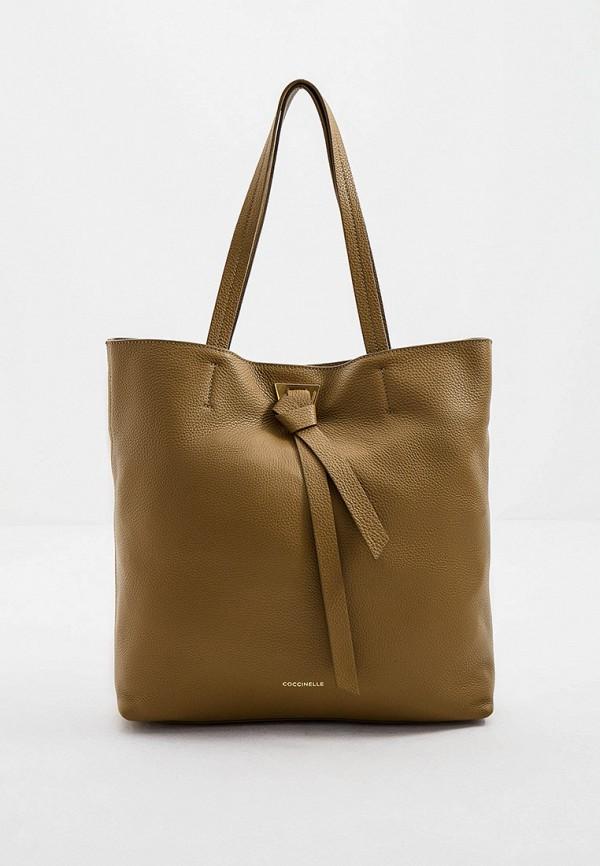 женская сумка coccinelle, хаки