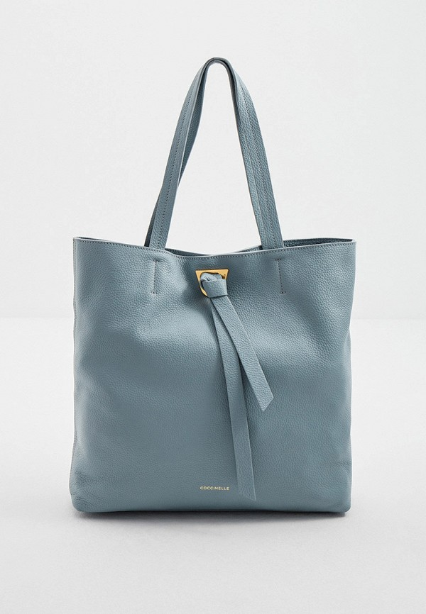 женская сумка-шоперы coccinelle, голубая