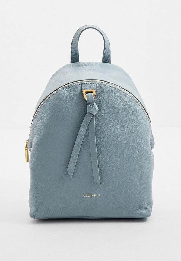 женский рюкзак coccinelle, голубой