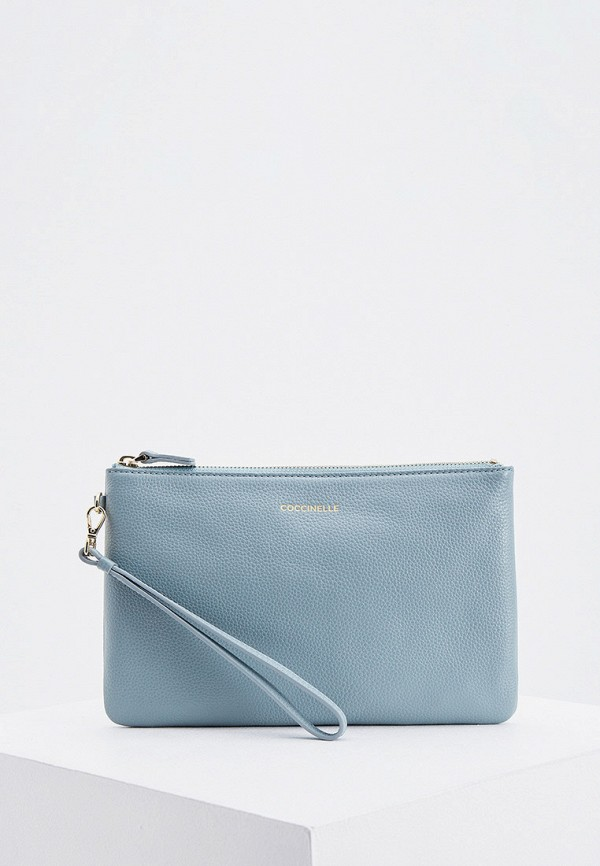 женский клатч coccinelle, голубой