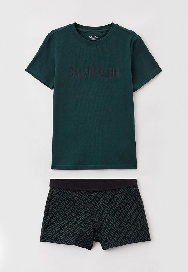 пижама calvin klein для мальчика, зеленая