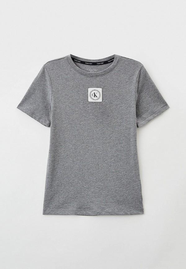 Футболка Calvin Klein серого цвета