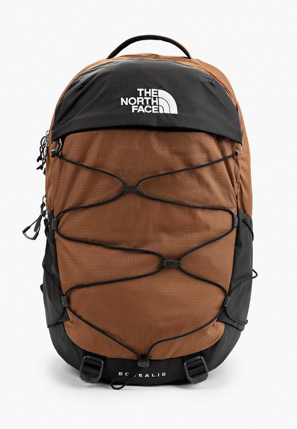 женский рюкзак the north face, коричневый