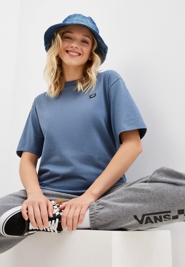 женская спортивные футболка vans, голубая