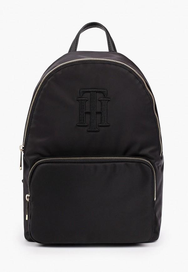 женский рюкзак tommy hilfiger, черный