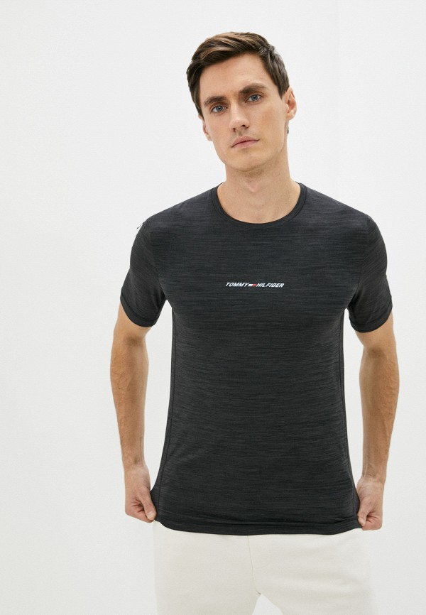Футболка спортивная Tommy Hilfiger серого цвета