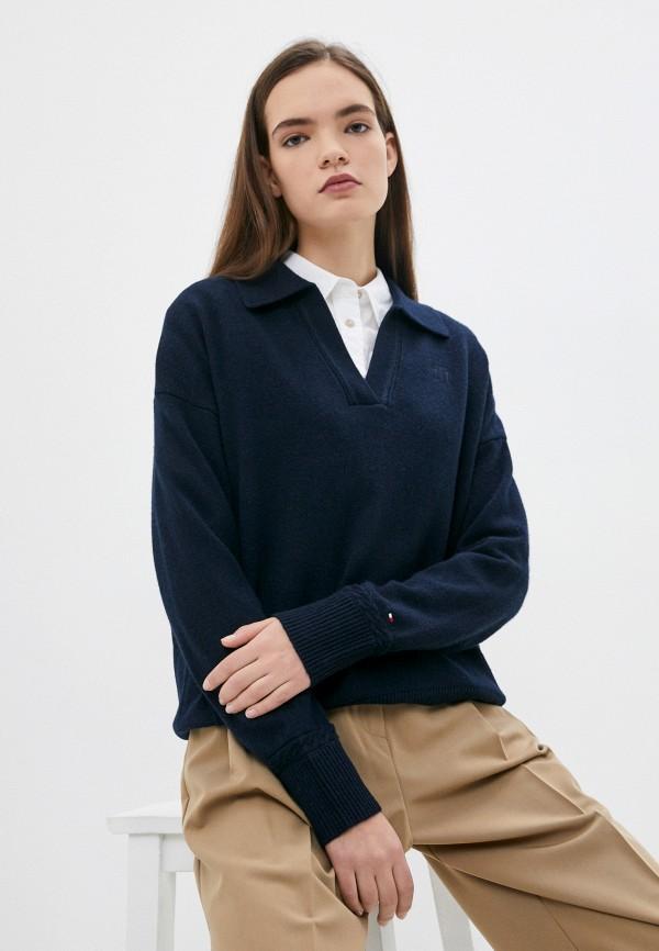 Пуловер Tommy Hilfiger синего цвета