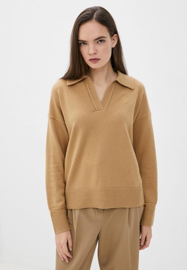 Пуловер Tommy Hilfiger коричневого цвета