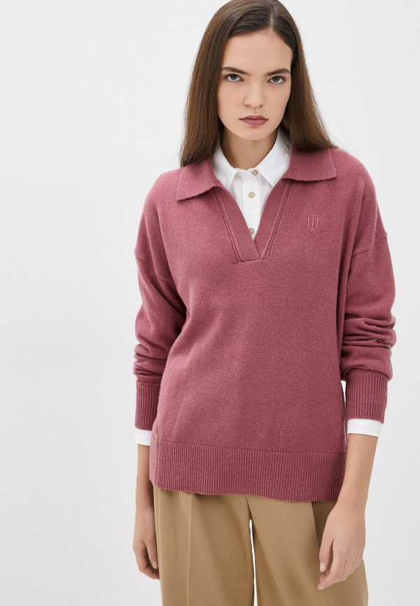 Пуловер Tommy Hilfiger розового цвета
