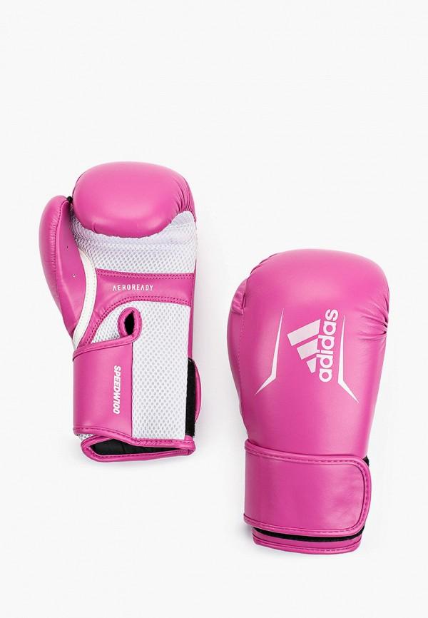 женские перчатки adidas, фиолетовые
