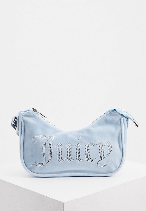 женская сумка с ручками juicy couture, голубая
