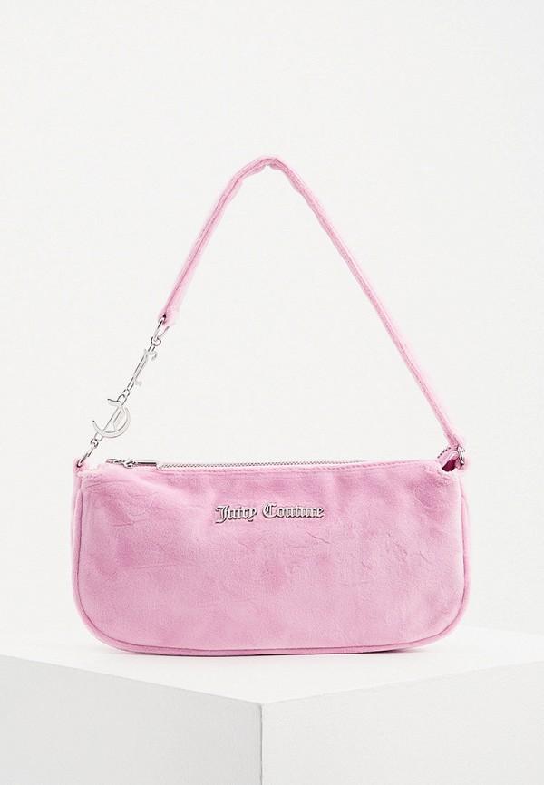 женская сумка с ручками juicy couture, розовая