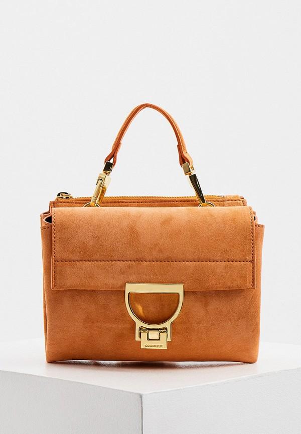 женская сумка coccinelle, коричневая