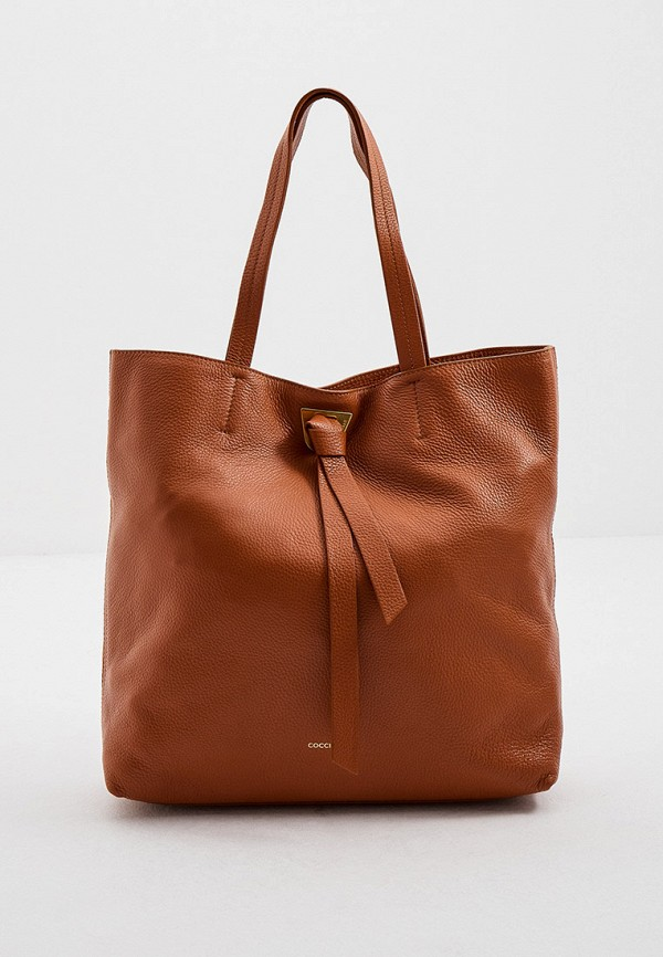 женская сумка-шоперы coccinelle, коричневая