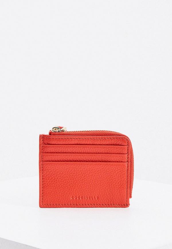 женский кошелёк coccinelle, красный