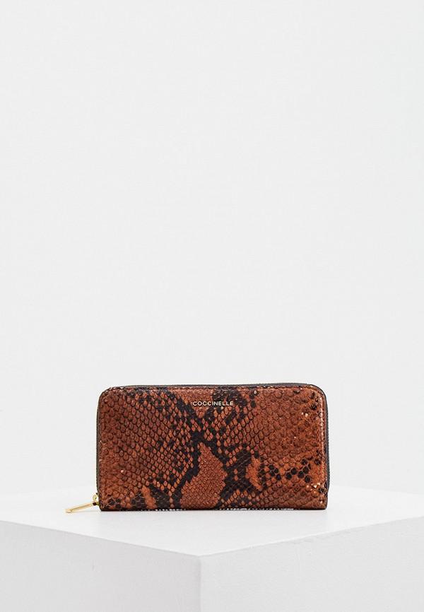 женский кошелёк coccinelle, коричневый