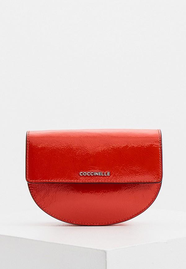 женская поясные сумка coccinelle, красная