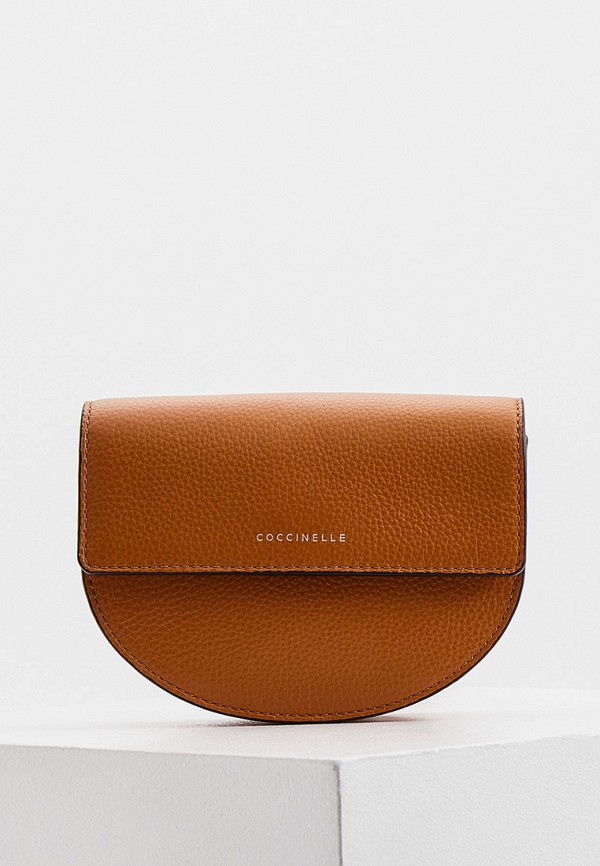 женская поясные сумка coccinelle, коричневая