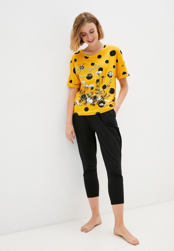 женская пижама rene santi, разноцветная