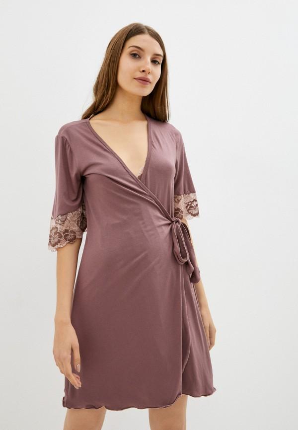 женский халат rene santi, розовый