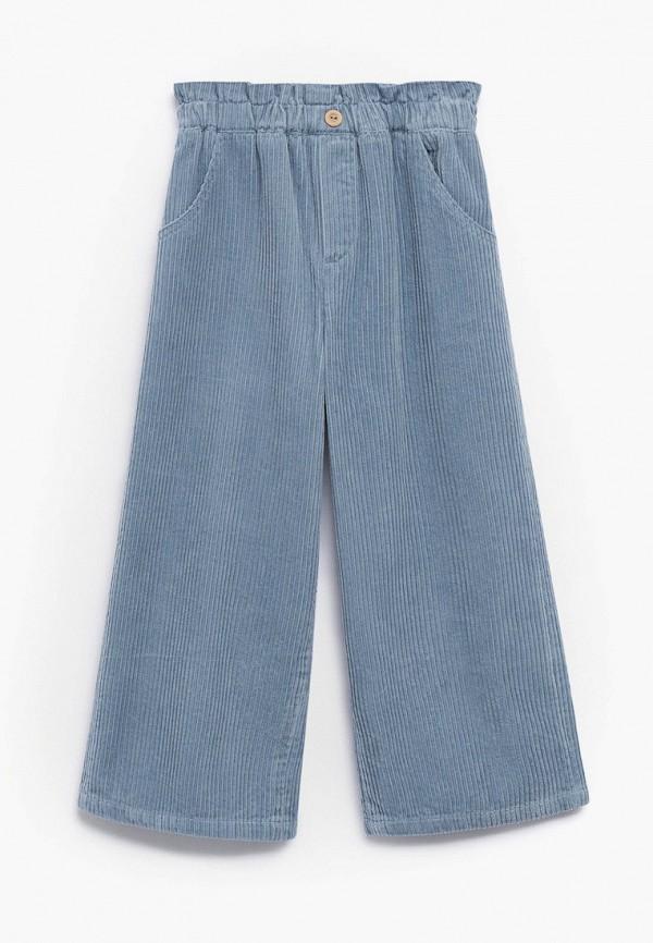 брюки mango kids для девочки, голубые
