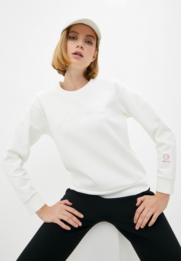 женский свитшот anta, белый