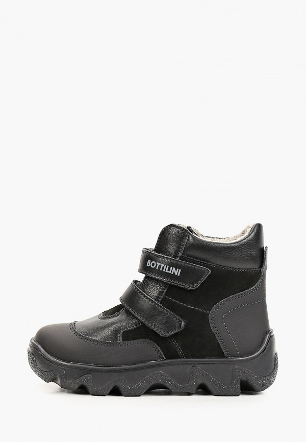 ботинки bottilini для мальчика, черные