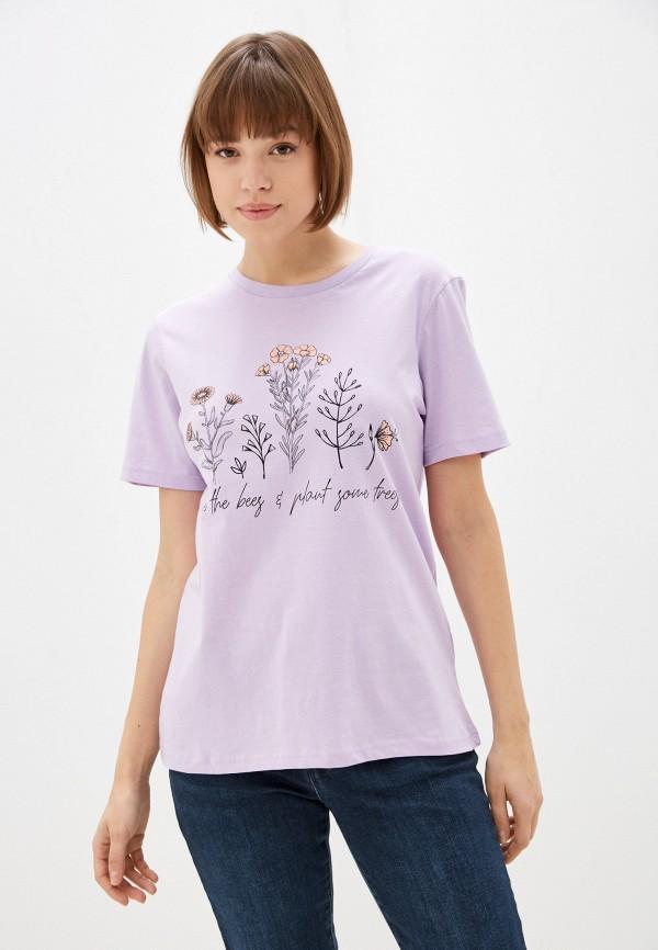 женская футболка weekend vibes, фиолетовая
