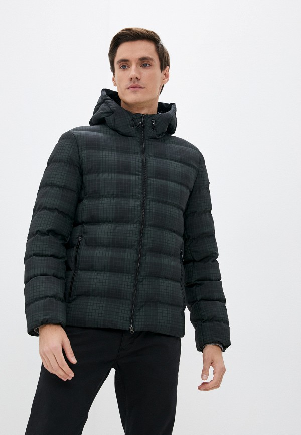 мужская утепленные куртка geox, зеленая