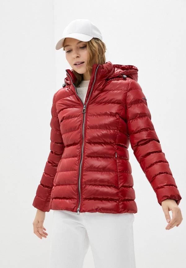 женская утепленные куртка geox, красная
