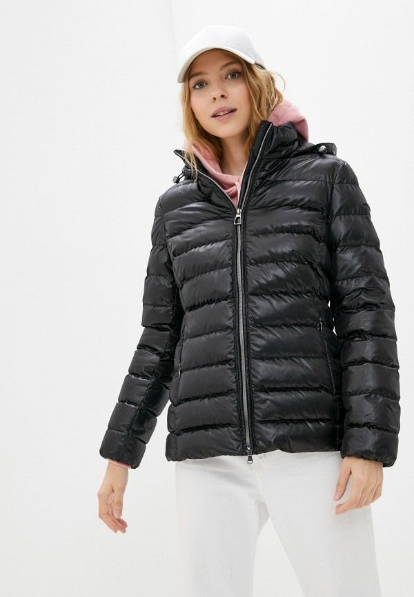 женская утепленные куртка geox, черная