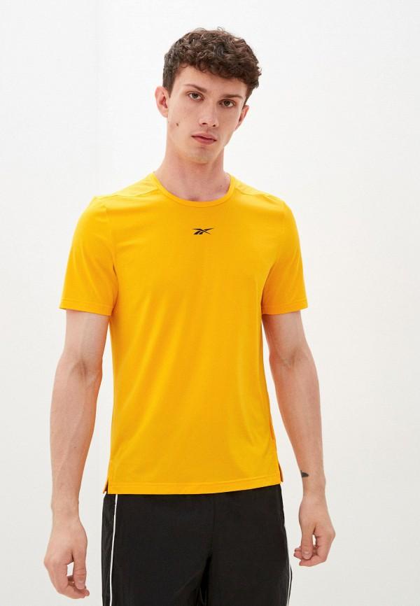 Футболка спортивная Reebok оранжевого цвета