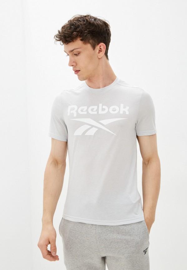Футболка спортивная Reebok серого цвета