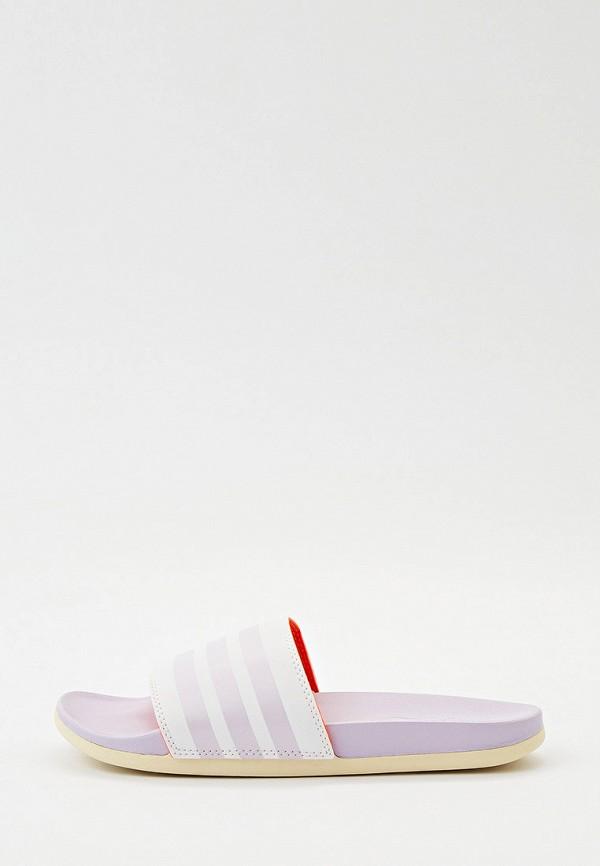 Сланцы adidas разноцветного цвета