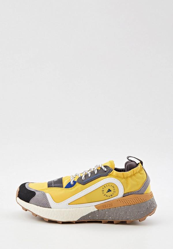 женские низкие кроссовки adidas by stella mccartney, желтые