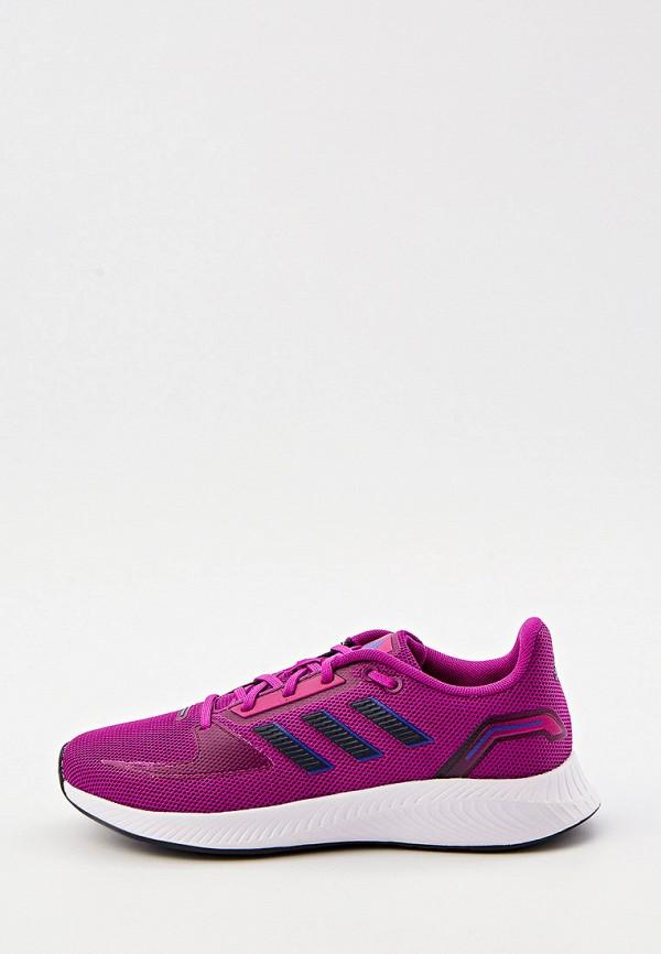 женские низкие кроссовки adidas, фиолетовые