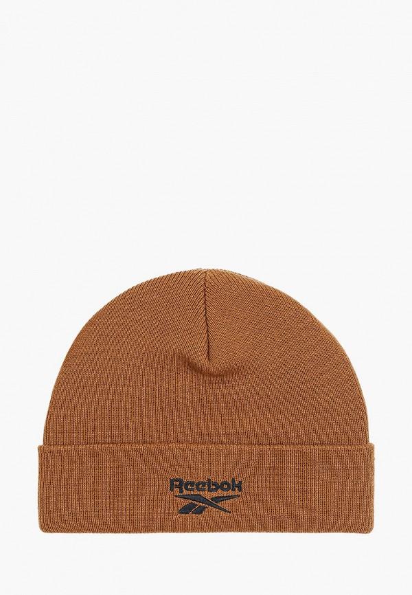 женская шапка reebok, коричневая