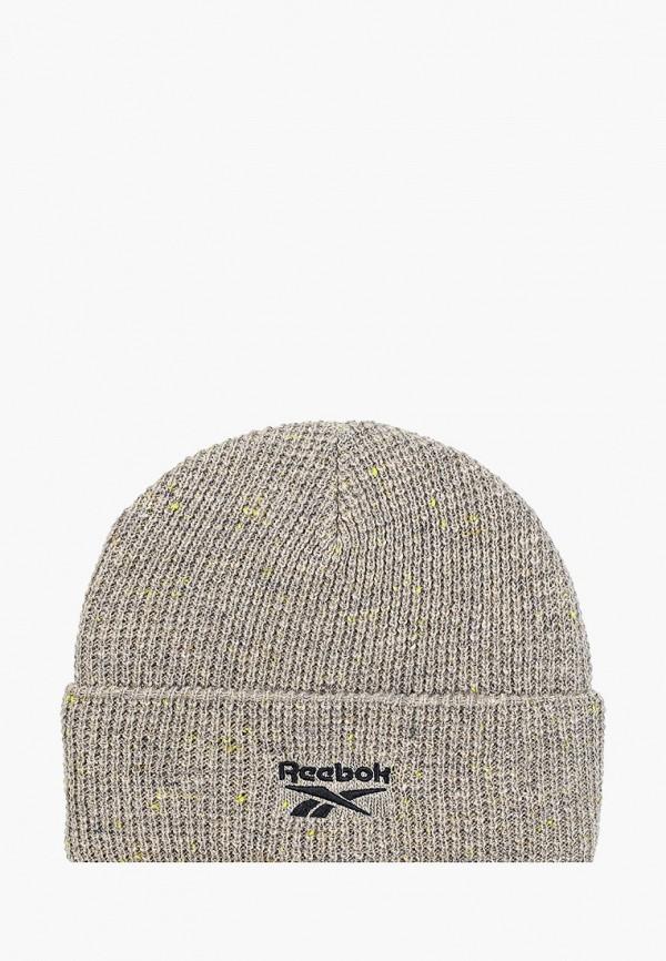 женская шапка reebok classic, серая