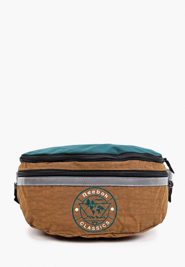 женская сумка reebok classic, коричневая